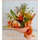 ช่อดอกไม้ผสมขาวส้ม (bouquet)