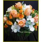 แจกันดอกไม้ส้ม ขาว vase flower