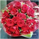 ช่อกุหลาบแดง 20 ดอก
