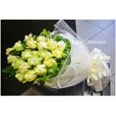 ช่อกุหลาบขาว 20 ดอก