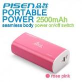 Pisen Power Bank 2500 mAh สีชมพู