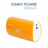 Pisen Funny Power 5000 mAh สีส้ม