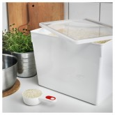 IKEA อิเกีย ทีลสลูทต้า กล่องใส่อาหารแห้งพร้อมฝา 10 ลิตร