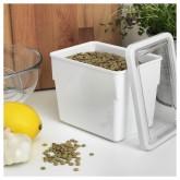 IKEA อิเกีย ทีลสลูทต้า กล่องใส่อาหารแห้งพร้อมฝา 1 ลิตร สูง
