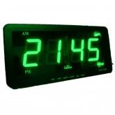 นาฬิกาปลุก ตั้งโต๊ะ ติดผนัง LED เฉพาะเวลา ขนาด 7 นิ้ว (ไฟสีเขียว)