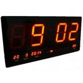 นาฬิกา LED ติดฝาผนัง แบบบาง ตัวเลข 4 นิ้ว ขนาด 18 นิ้ว ไฟสีแดง