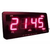 RED LED Clock Digital : นาฬิกาดิจิตอล LED ขนาดใหญ๋ชัดเจน สีแดง กว้าง 8 นิ้ว
