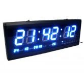 Blue LED Clock Board : นาฬิกา LED สีฟ้า ขนาดใหญ่(Board) สำหรับติดฝาผนัง มองเห็นได้ชัดเจน สำหรับโรงแร