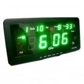 GREEN LED : นาฬิกาตั้งปลุก LED สีเขียว กว้าง 8 นิ้ว