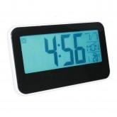 GooAB Shop นาฬิกาปลุกดิจิตอล หน้าจอ 5.3 นิ้ว แสดงอุณหภูมิ พร้อมไฟ Backlight-สีดำ/ขาว
