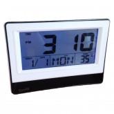 GooAB Shop นาฬิกาปลุกดิจิตอล แบบตั้งโต๊ะ หน้าจอ 6 นิ้ว (สีดำ)