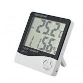 GooAB Shop นาฬิกาพร้อม เครื่องวัดอุณหภูมิความชื่น รุ่น HTC-1 + ถ่าน AAA 1 ก้อน(White)