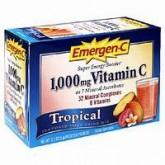 5 ซอง Emergen-C รส Tropical  วิตตามิน C แบบใหม่!!มาเป็นผง ใช้ผสมน้ำเย็นดื่มได้ทุกเวลา