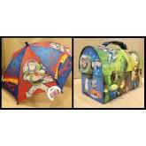 Toy Story พิิเศษ!! กล่องข้าว กล้องใส่อาหาร กล่องใส่ของ กล่องอเนกประสงค์ + ร่มหัวโมเดล จัด Set คู่