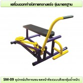 อุปกรณ์บริหารแขน-ลดหน้าท้อง (แบบดึงยกตุ้มน้ำหนัก) รุ่น SM-09
