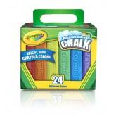 Crayola สีชอล์กแท่งใหญ่ 1 ชุด 24 แท่ง รุ่น 51-2024 (1 แพ็คมี 2 ชุด)