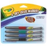 Crayola สีเมจิกเขียนไวท์บอร์ด 1 ชุด 4 สี รุ่น 98-8629 (1 แพ็คมี 2 ชุด)