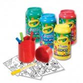 Crayola ชุดสีเมจิกและกระดาษ ในกระป๋องน้ำอัดลม 1 ชุด 4 สี รุ่น 04-1225 (1 แพ็คมี 3 ชุด)