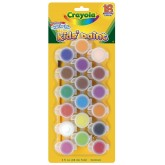 Crayola สีน้ำล้างออกได้ 1 ชุด 18 สีพร้อมพู่กันในขวดมีฝาปิดเก็บได้ รุ่น 54-0125 (1 แพ็คมี 3 ชุด)