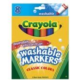 Crayola สีเมจิกล้างออกได้ 8 แท่งใหญ่ รุ่น 58-7808