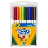 Crayola สีเมจิกล้างออกได้ 1 ชุด 10 สี หัวพิเศษเส้นบางหนาในแท่งเดียว รุ่น 58-8610 (1 แพ็คมี 3 ชุด)