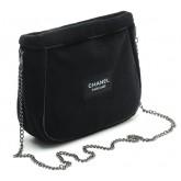 Chanel Parfums Faux Fur Sling Shoulder Bag กระเป๋าสะพายขนสัตว์เทียมโซ่สีเทา