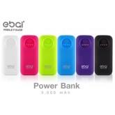 พาวเวอร์แบงค์ EBAI Mobile Power 5000 mAh (Q1) สีสันสดใสมีทั้งหมด6สี(ของแท้)