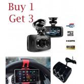 โปรโมชั่นพิเศษสุดคุ้มซื้อ 1 ได้ถึง 3 กล้องติดรถยนต์ GS8000L G-Sensor FULL HD 1080p