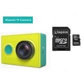 กล้อง Xiaomi Yi Action Camera สีเขียว (Basic Version)+เมม 16Gb