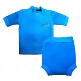 SwimFly ชุดว่ายน้ำกันหนาว สำหรับเด็กเล็ก สีฟ้า