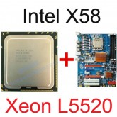 Mainboard intel X58 Socket 1366 + CPU Xeon L5520 Professional Gamer