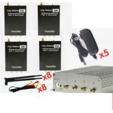 ชุดกล่องรับ-ส่งสัญญาณภาพระยะไกล 2.4G3W Wireless tranmission with VideoStereo System