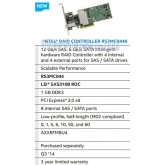 Intel RS3MC044 12G RAID SATA SAS 1GB cache array card SFF8643 + 8644