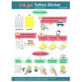 ideecraft สติ๊กเกอร์แทททู tattoo sticker รูปลอกติดบนผิวหนังติดหน้ากองเชียร์หรืองานสังสรรค์ต่างๆ