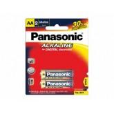 ถ่าน Panasonic Alkaline AA แพค 2ก้อน จำนวน 12 แพค/กล่อง