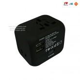 Universal Plug หัวปลั๊กไฟอเนกประสงค์ พร้อมช่อง USB 1A 2port ver.2