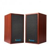 I-Smart JiTeng Wooden 3D Hi-Fi Speaker ลำโพง คอมพิวเตอร์ รุ่น JT04 - Brown