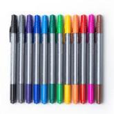 ปากกาสีน้ำ 2 หัว นามมี NM-275 คละสี (แพ็ค12ด้าม)