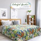 ผ้าห่มนวมลายดอกไม้ Colorful Garden