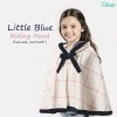 ผ้าห่มฮู๊ด LITTLE RIDING สีน้ำเงิน