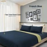 ชุดผ้าปูที่นอนและปลอกผ้านวม French Blue