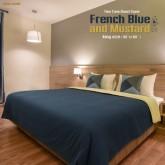 ปลอกผ้านวม French Blue and Mustard