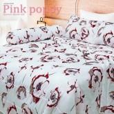 ชุดผ้าปูที่นอน Pink Poppy (5 ฟุต)