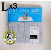 Pet Pee Pad(รุ่นใหม่..ผ้าสีเทา) แผ่นรองซับฉี่แบบซักได้ไซส์ L (50 x 70 cm) แพค 3 ชิ้น ประหยัดกว่า