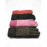 ถุงมือหนังฟอกผู้หญิง รุ่นจั๊มข้อมือ Freesize