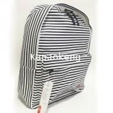 กระเป๋าเป้ สีดำริ้วเล็ก