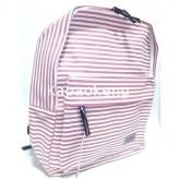 กระเป๋าเป้ สีชมพูริ้วเล็ก