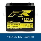 RR YT14-JS YTX14-BS แบตเตอรี่แห้ง มอเตอร์ไซต์ motorcycle battery