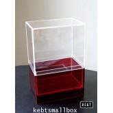 Box set กล่องแดง 1 ช่อง + กล่องครอบกันฝุ่น สำหรับเก็บเครื่องสำอาง