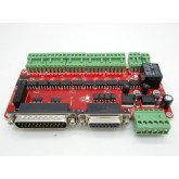 บอร์ด คอนโทรล CNC 5 axis CNC Breakout board interface adapter board V8 type with optical coupling